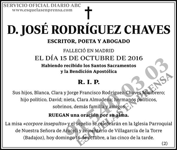 José Rodríguez Chaves